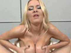 Blondes big oily breasts...